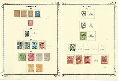 Guatemala Collection on 72 Scott Specialty Pages, 1871 to 1972, SCV $490