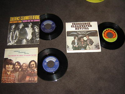 lot disques vynils 45 tours  ---  CREEDENCE CLEARWATER REVIVAL