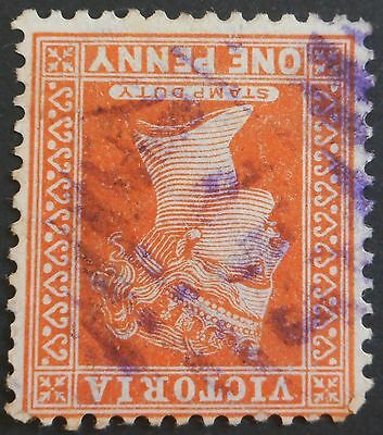 Victoria 1891 1d with Barred 407 in purple  postmark