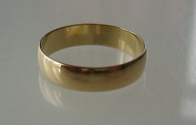 Lot 2 - Vintage Yellow Solid Gold Wedding Ring 9 Ct Uk Hallmarked 1997. Gift