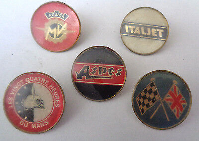 Motor Cycle Related Plastic Incert  Lapel Badges