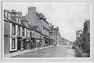 CALLENDER Stirlingshire Scotland MAIN STREET LOOKING EAST