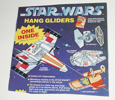 1979 Cereal Box Back w/ Star Wars Hang Gliders offer