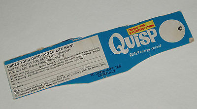 1971 Quisp Cereal Box Top w/ Astrolite Premium offer
