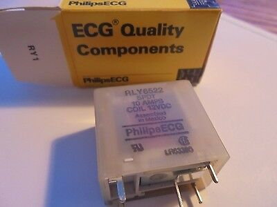 NEW Philips ECG RLY6522 10A 12 VDC Relay RLY 6522