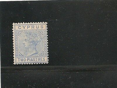 cyprus sc#22A f/vf+og hr great looking die a 1882-1894 queen high catalog