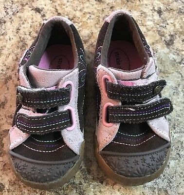 STRIDE RITE, Toddler/Girls , Size 6 Med - Brown/Pink Leather Sneakers