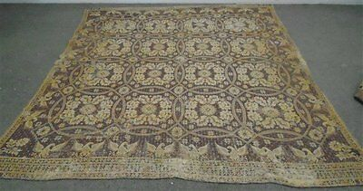 """Antique  Wool Woven Coverlet Dated 1841 Patriotic With Eagles  85"""" X 72"""""""