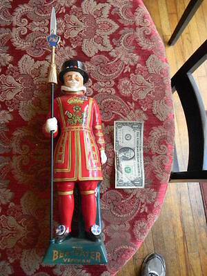 "Vintage  BEEFEATER YEOMAN  16"" Porcelain Decanter  Handpainted  Staffordshire"