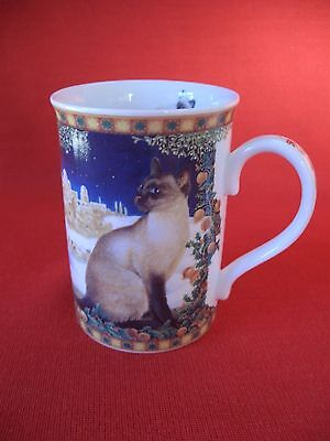 Lesley Anne Ivory Danbury Mint Fine English Bone China ~ Lesley's Cats ~ Mug (C)