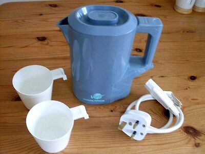 """Travel Kettle, """"morphy Richards - Voyager"""" Dual Voltage.+ 2 Cups. Gwo & Gcc"""