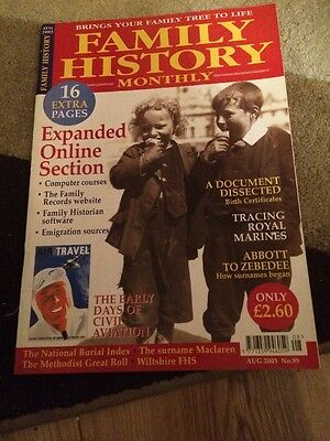Family History Monthly August 2003