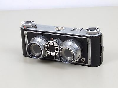 Vintage Iloca Stereo Camera with Case and Accessories.