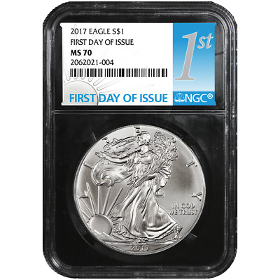 2017 $1 American Silver Eagle NGC MS70 FDI First Label Retro Core