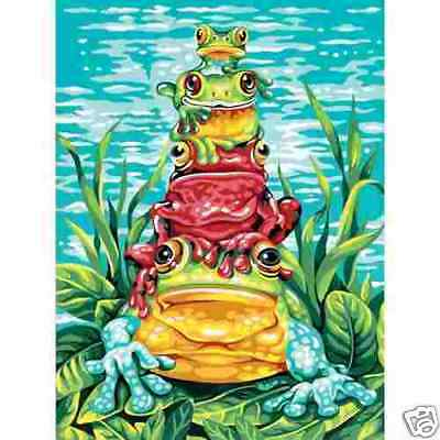 FROG PILE Up Paint by Number Kit