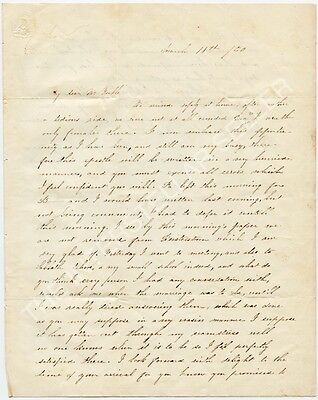 Antique 1845 STAMPLESS LETTER! REISTERSTOWN, MARYLAND, BALTIMORE Yeakle Marriage