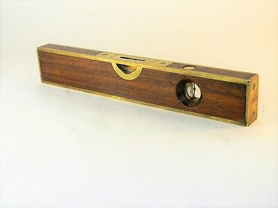 """Stratton Brothers Patented March 1 1870 Rosewood & Brass 12"""" Level Inv T2691"""