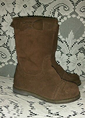 Janie and Jack Toddler Girl's Brown Suede Boots size 7
