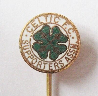 CELTIC - Superb Supporters Club Enamel Football Stick Pin Badge