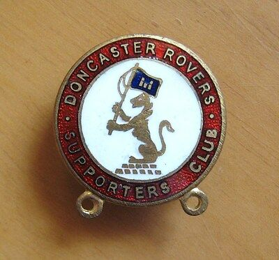 DONCASTER ROVERS - Vintage Supporters Club Enamel Football Pin Badge