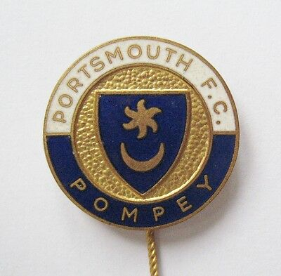 PORTSMOUTH - Vintage Enamel Football Stick Pin Badge By Cooper