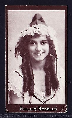 R & J Hill ACTRESSES - CHOCOLATE (TOBACCOS) 1917 Phyllis Bedells *Good/VG Cond*