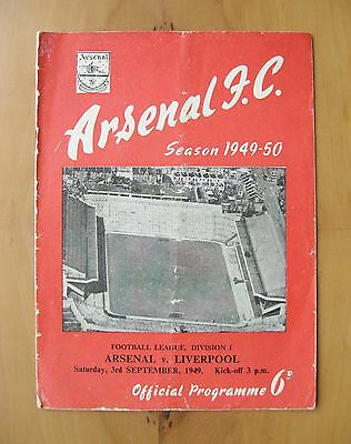 ARSENAL v LIVERPOOL 1949/1950 *Good Condition Football Programme*