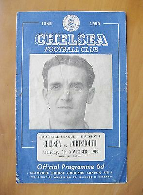 CHELSEA v PORTSMOUTH 1949/1950 *Good Condition Football Programme*