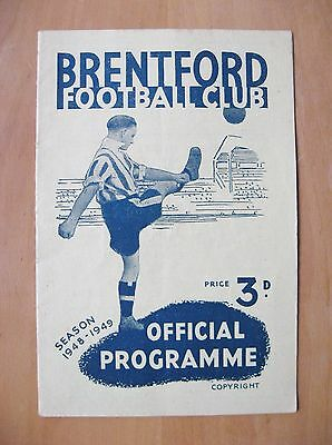 BRENTFORD v MIDDLESBROUGH FA Cup 1948/1949 *Exc Condition Football Programme*