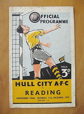 HULL CITY v READING FA Cup 1948/1949 *Good Condition Football Programme*