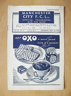 MANCHESTER CITY v CHARLTON ATHLETIC 1947/1948 *VG Condition Football Programme*