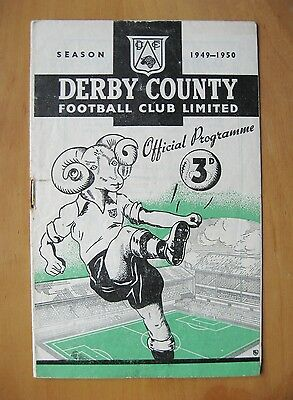 DERBY COUNTY v HUDDERSFIELD TOWN 1949/1950 *VG Condition Football Programme*