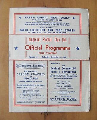 ALDERSHOT v CHESTER FA Cup 1948/1949 *Good Condition Football Programme*