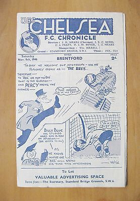 CHELSEA v BRENTFORD 1946/1947 *Excellent Condition Football Programme*