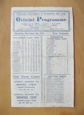 CHELSEA v BRENTFORD 1945/1946 *Good Condition Football Programme*
