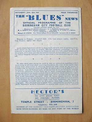 BIRMINGHAM CITY v PORTSMOUTH FA Cup 1946/1946 *VG Condition Football Programme*