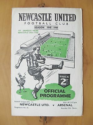 NEWCASTLE UNITED v ARSENAL 1948/1949 *VG Condition Football Programme*