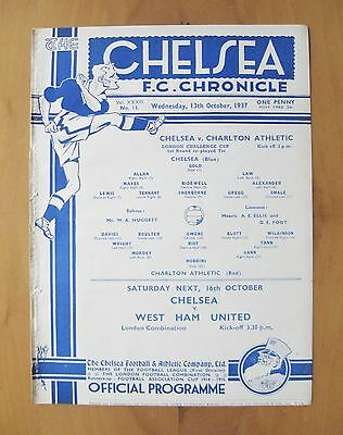 CHELSEA v CHARLTON ATHLETIC London FA Challenge Cup Replay 1937/1938 *Exc Cond*
