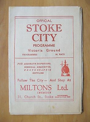 STOKE CITY v SHEFFIELD UNITED FA Cup 1946/1947 *VG Condition Football Programme*