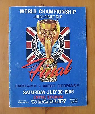 1966 World Cup Final ENGLAND v WEST GERMANY Original Football Programme VG Cond