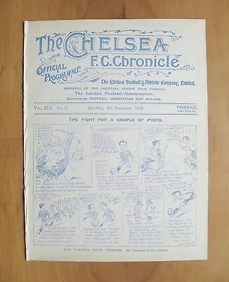 CHELSEA v PRESTON NORTH END 1923/1924 *Excellent Condition Football Programme*