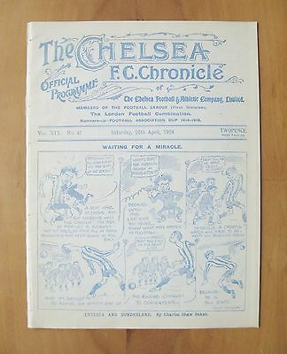 CHELSEA v SUNDERLAND 1923/1924 *Excellent Condition Football Programme*