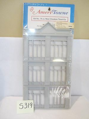 S319 O Scale Ameri-Towne No. 76 Wee Cheaten Trust Building Front Factory Sealed