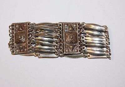 "Vintage Mexican Bracelet Stamped SILVER MEXICO Sz 7.5""  43.4 grams"