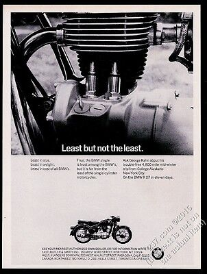 1965 BMW motorcycle & engine photo Least But Not The Least vintage print ad
