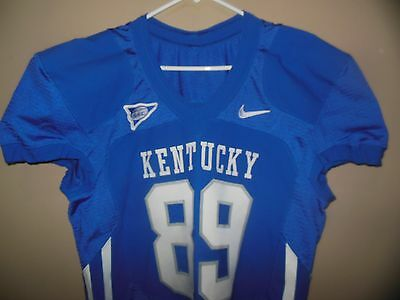 official photos ab132 2cbe6 KENTUCKY WILDCATS Game Used Football Jersey