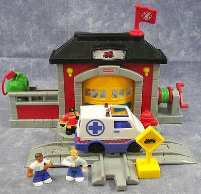 Fisher Price GeoTrax Fire Rescue Station Set #N8343 Expansion Pack