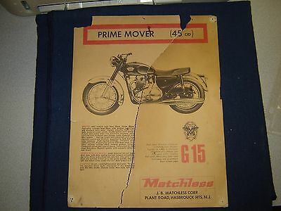 Matchless G 15 & G 80 AD 1960's