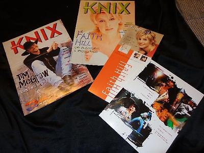 Tim McGraw & Faith Hill *1997-98 KNIX Magazine Covers+Faith Display & Tim Card!