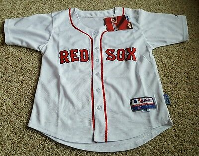 Dustin Pedroia #15 Boston Red Sox Mlb Majestic Youth Sewn Jersey Large